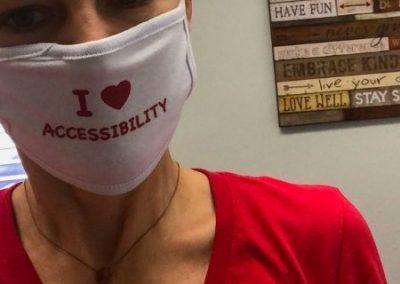 Pediatric Physical Therapist Lisa Davison with Mask